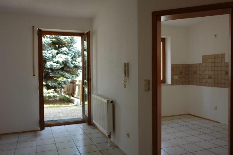 der Essbereich mit Terrassenzugang und die Küche